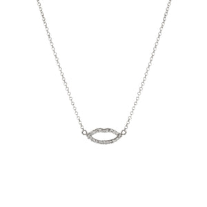 Silhouette Lips Diamond Pendant with Chain