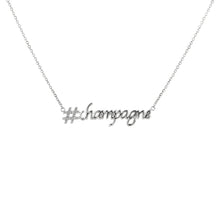 Load image into Gallery viewer, Hashtag (#) Champagne Pendant with Chain