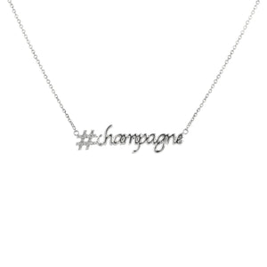 Hashtag (#) Champagne Pendant with Chain (yellow gold)