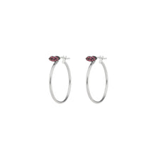 Load image into Gallery viewer, Ruby Lips Single Hoop Earring (yellow gold)