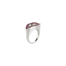 Load image into Gallery viewer, Lips Silhouette Ruby Ring