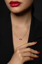 Load image into Gallery viewer, Silhouette Ruby Lips Necklace with Chain