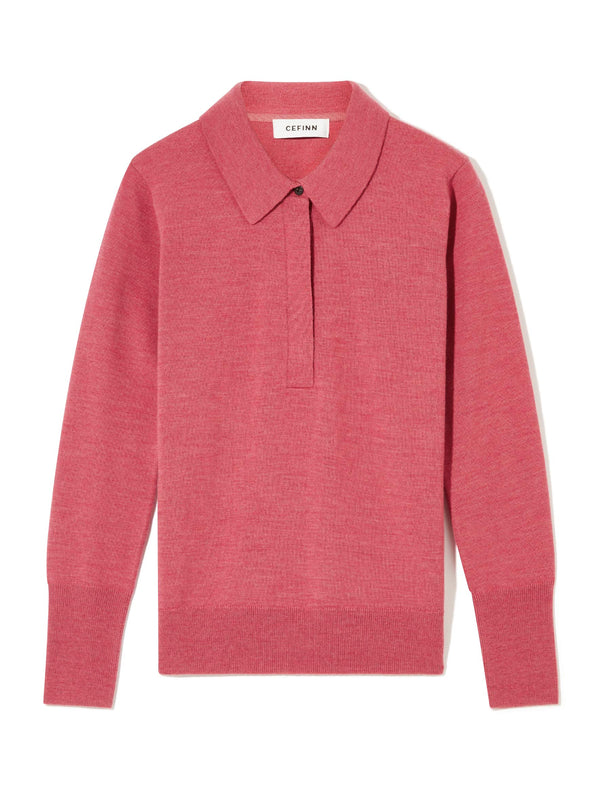 Josie Collared Jumper - Rose