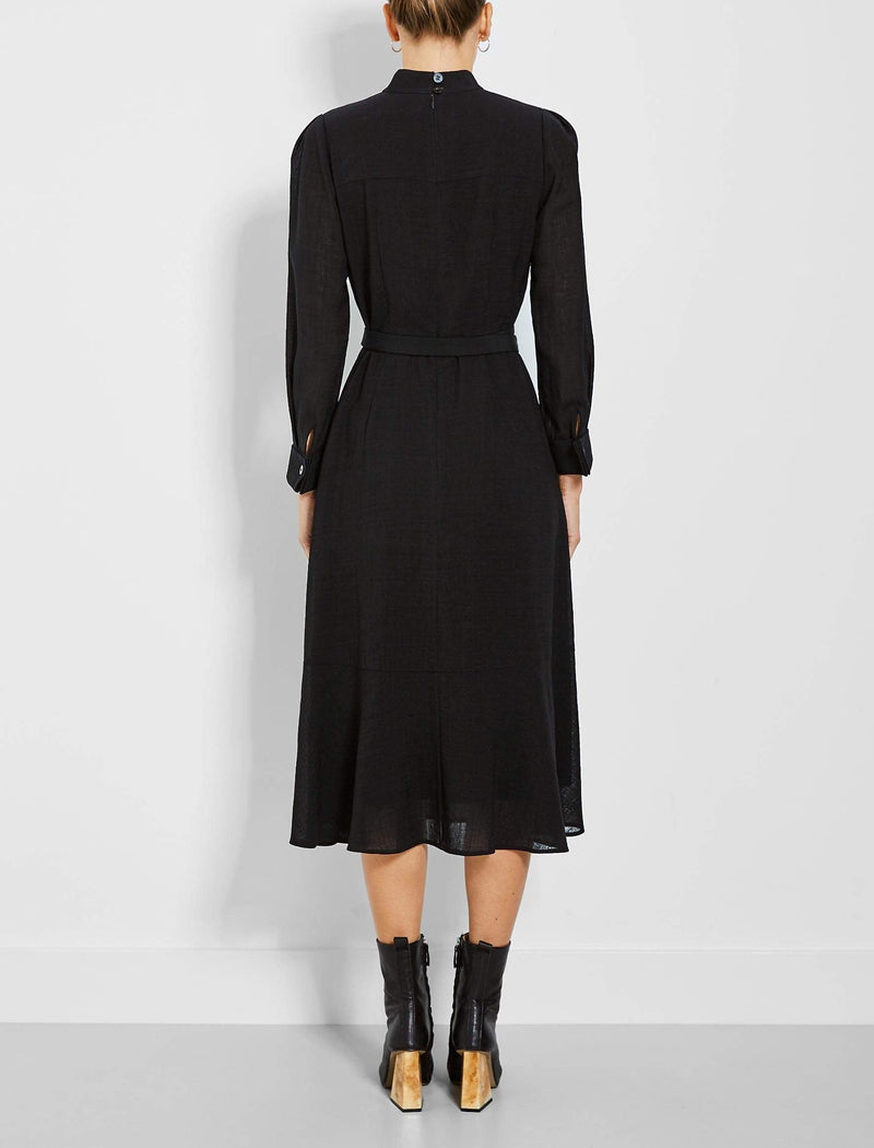 funnel neck dress maxi