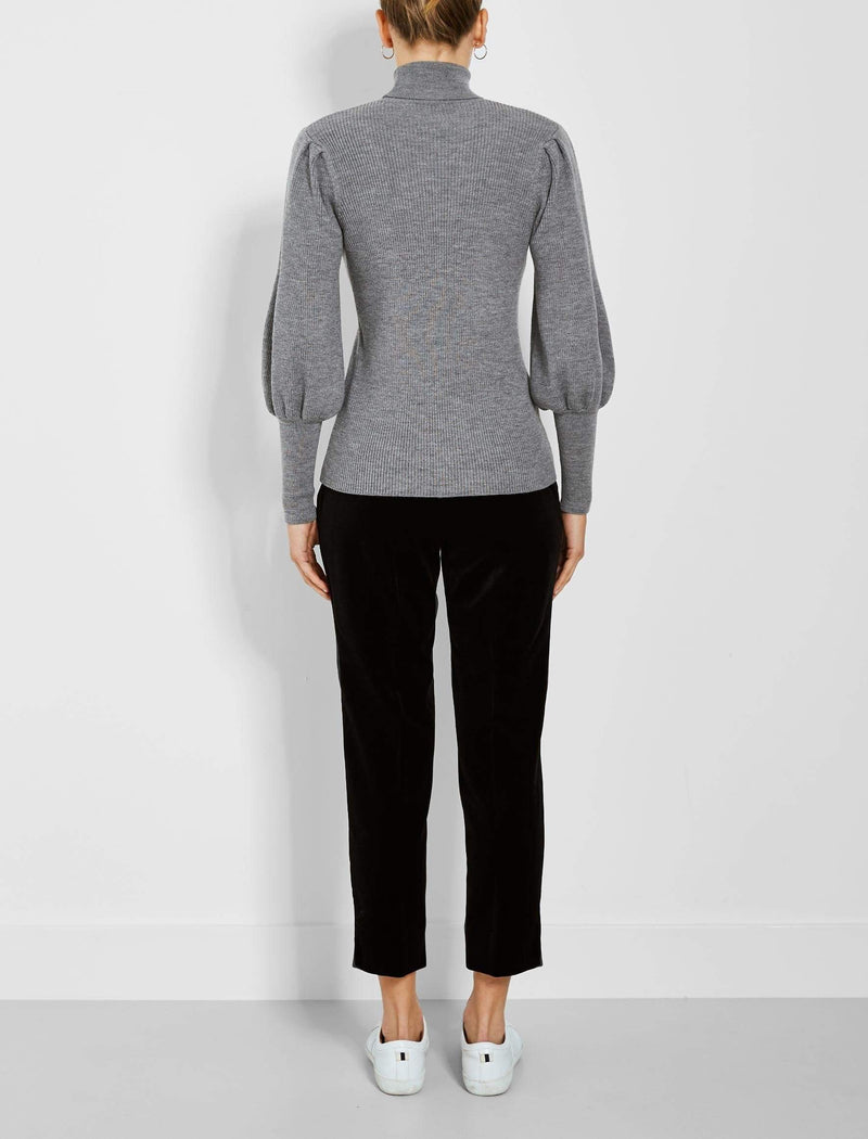 Blouson sleeve roll jumper