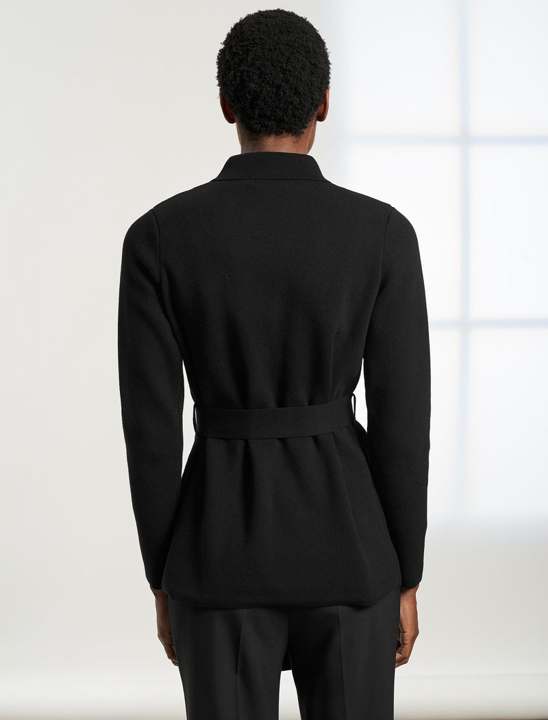 Cameron Belted Cardi Jacket - Black