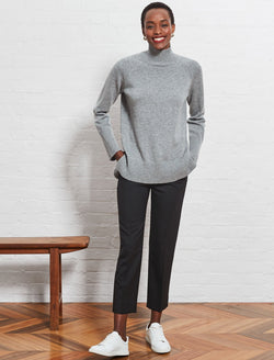 grey turtleneck jumper