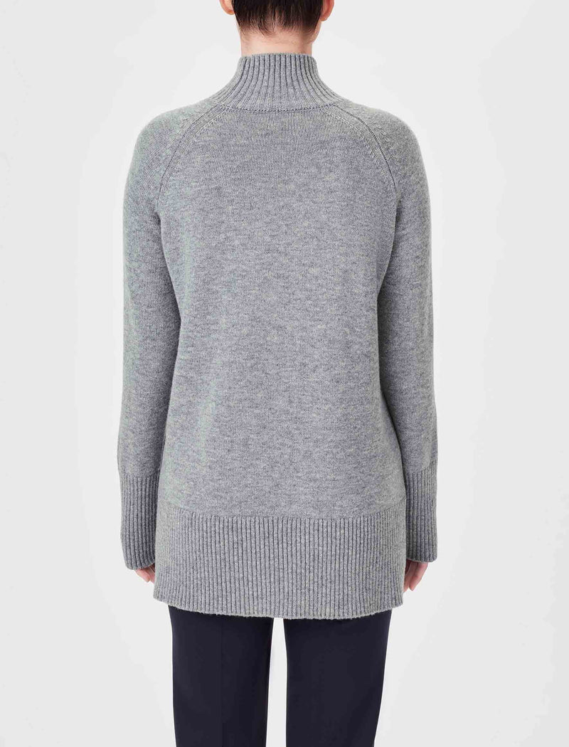 Jemima Turtleneck Jumper - Grey Marl