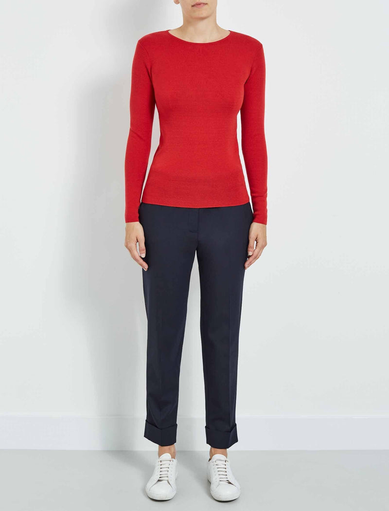 womens red jumper