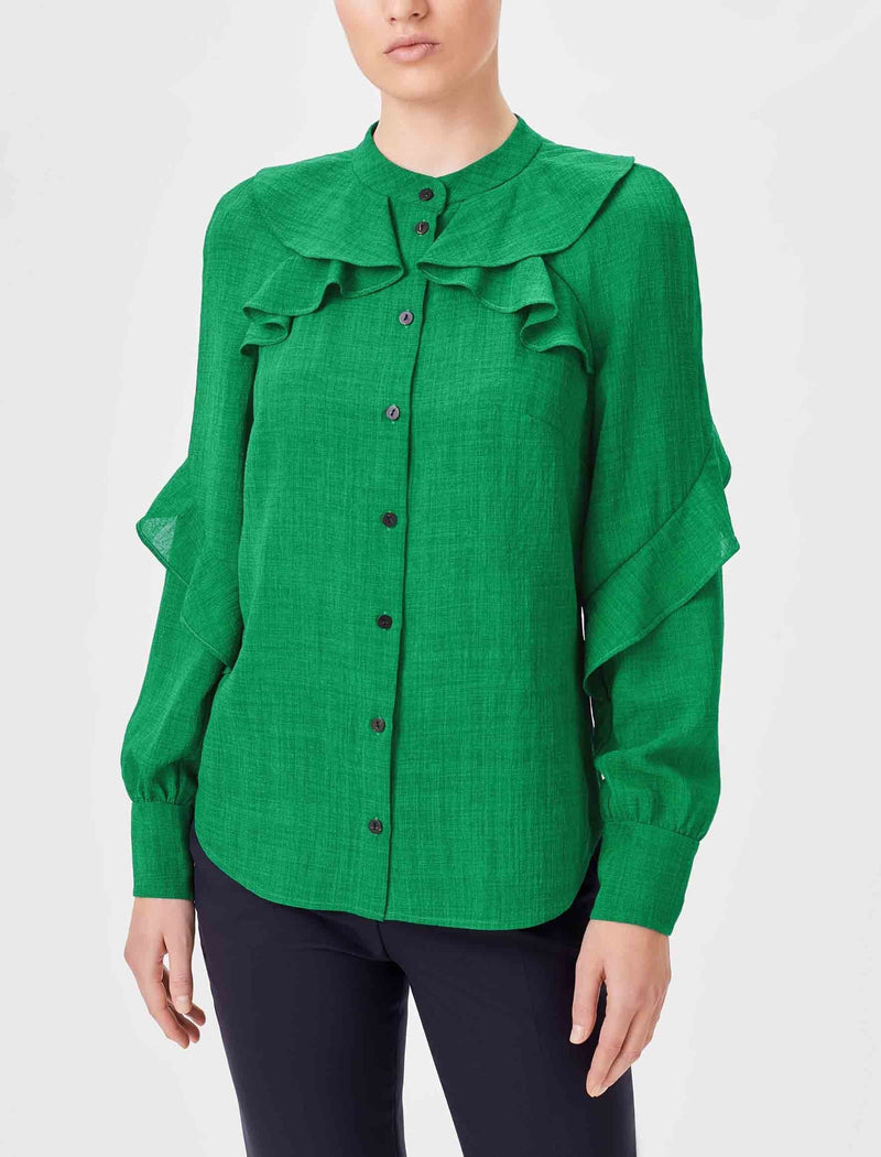 emerald green long sleeve shirt