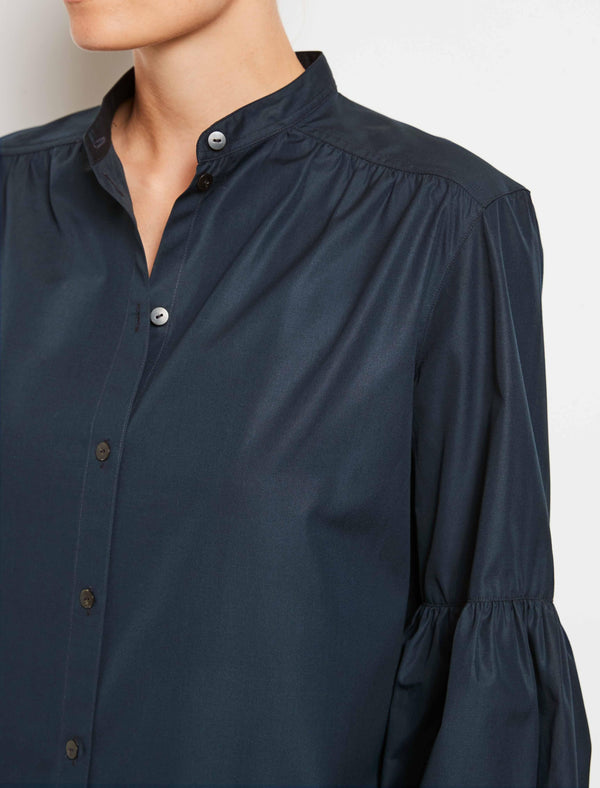 Navy Cotton Sleeve Shirt