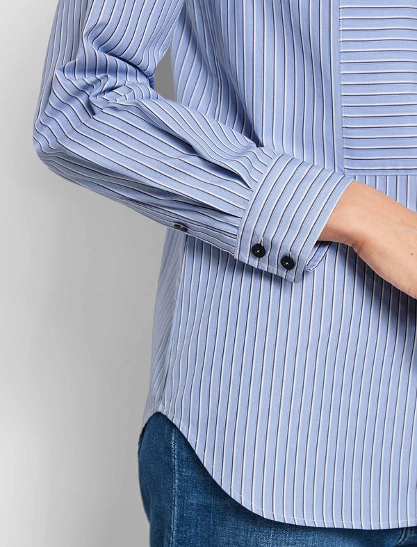collarless shirt for women