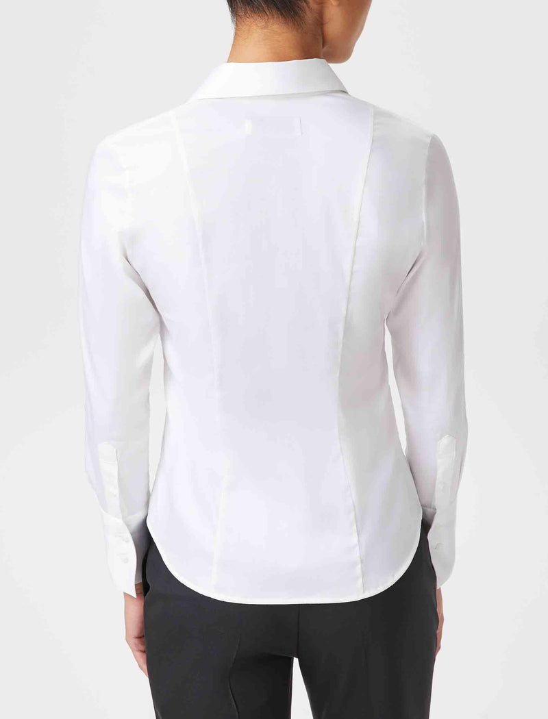 womens white fitted shirt