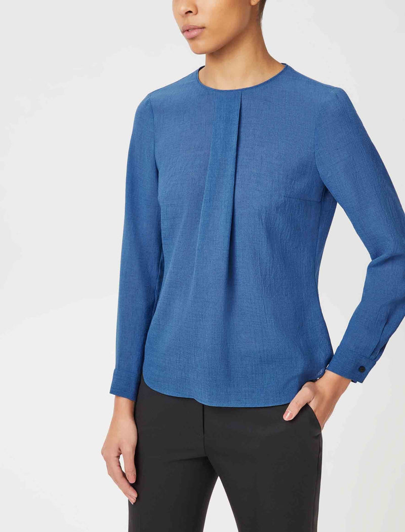 blouse cornflower blue