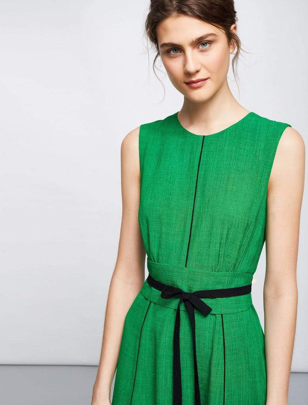 Rosie Sleeveless Maxi Dress - Emerald Green/Black