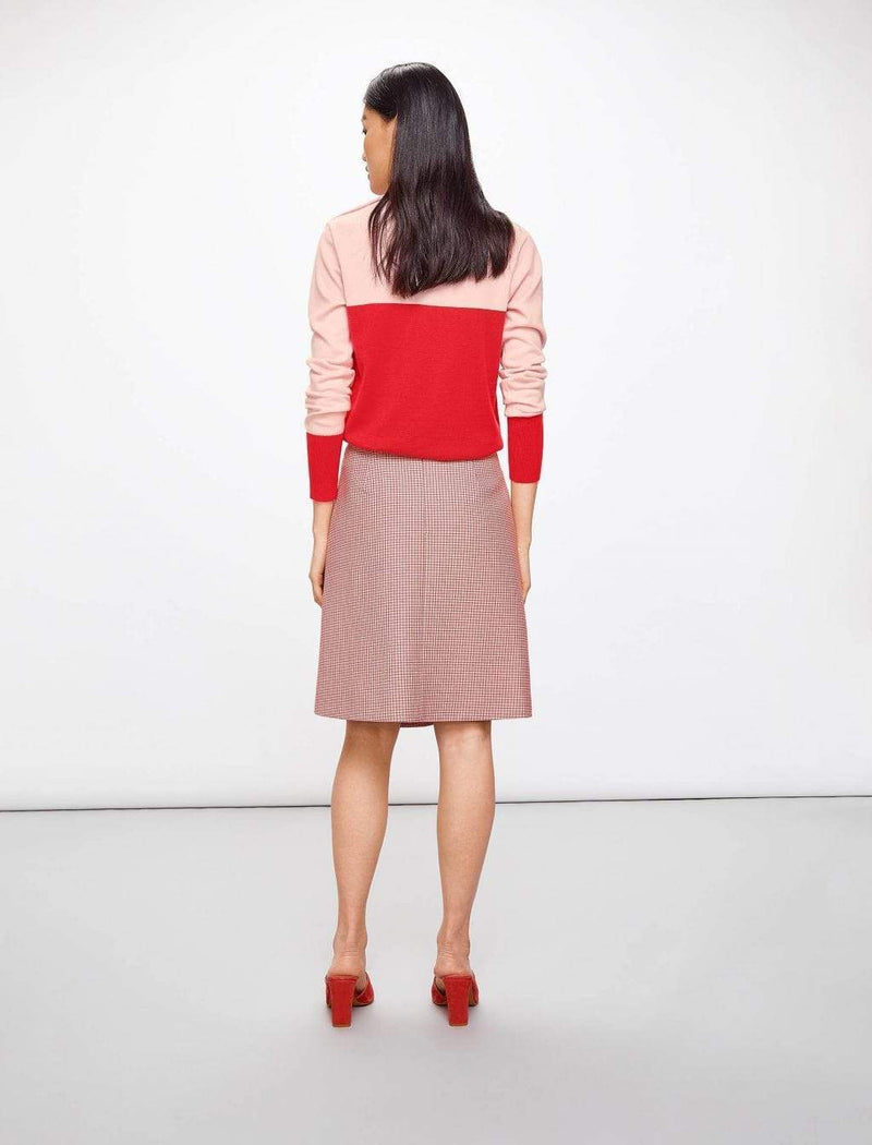 pink wool a-line skirts
