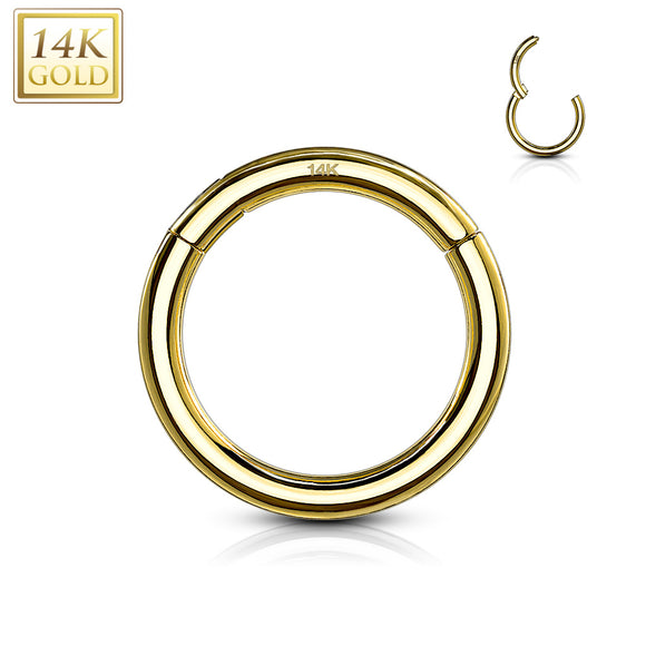 Gold 14ct Hinge Sleeper Rings 16ga Various Sizes