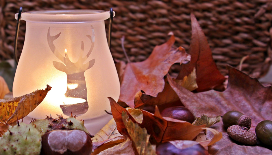 candle table settings for fall