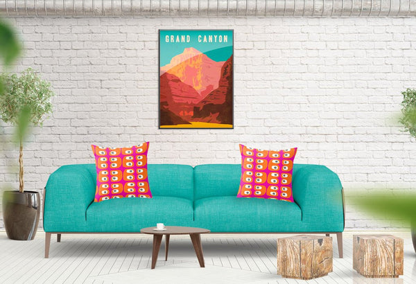 buy pink and orange throw pillow