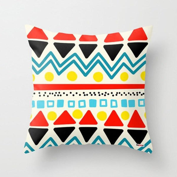 colorful scandinavian decor pillow