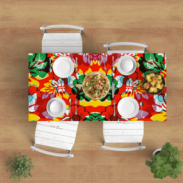 Hawaiian style colorful tablecloth