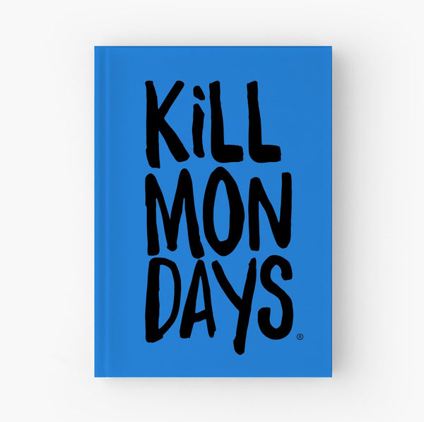 kill mondays journal notebook blue