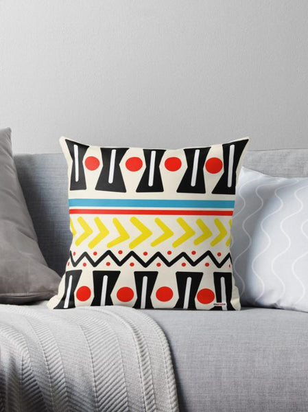 Image showing a scandi style cushion on a pale grey sofa