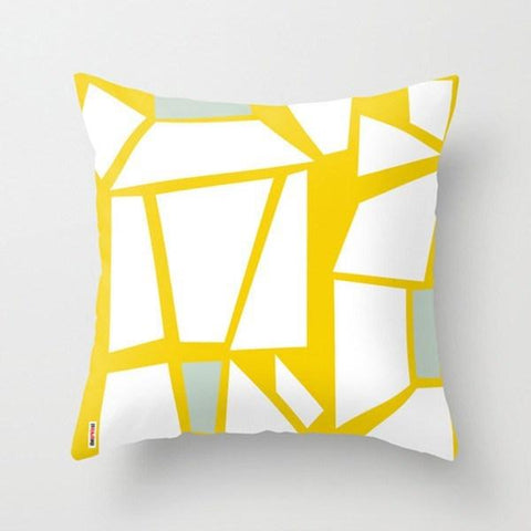 yellow throw pillow for modern nursery design