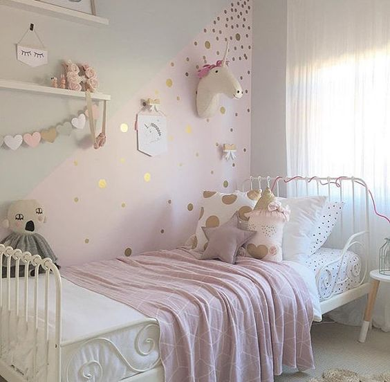 image showing a unicorn designed kids bedroom