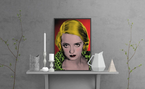 Bette Davis Art Print - Cinema poster
