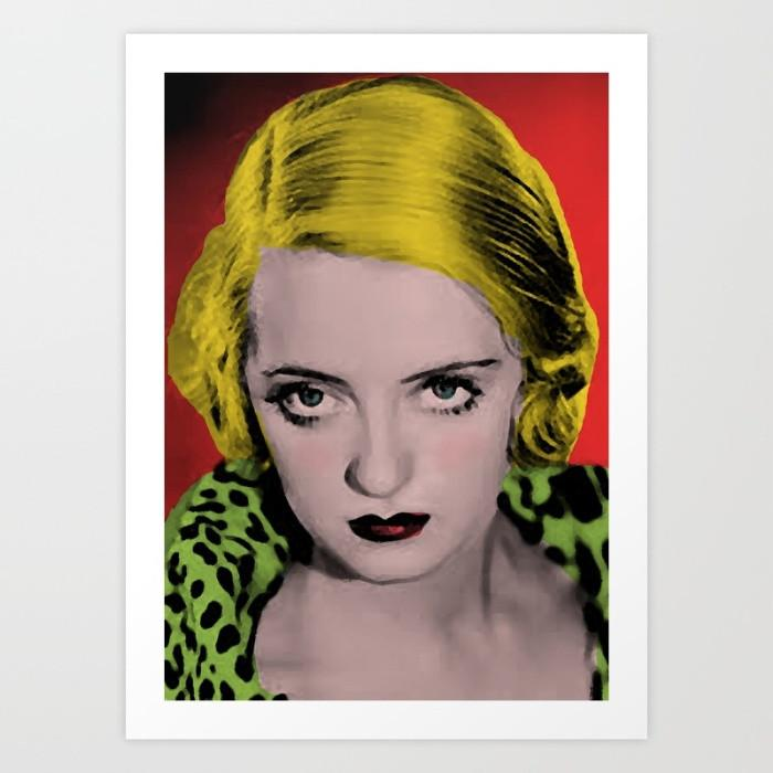 Bette Davis Art Print - Cinema poster-TheGretest
