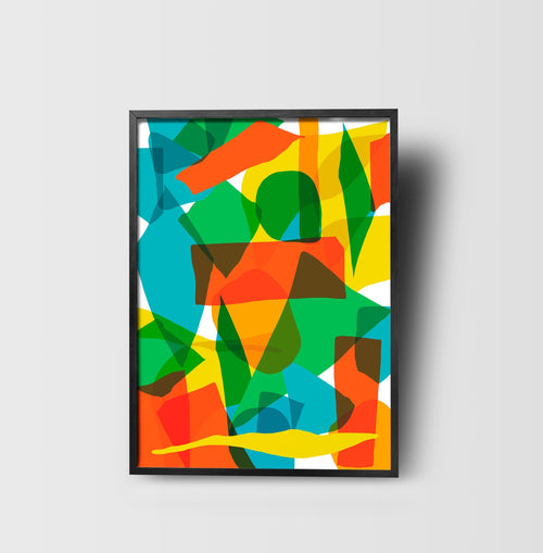 Colorful shapes Art Print