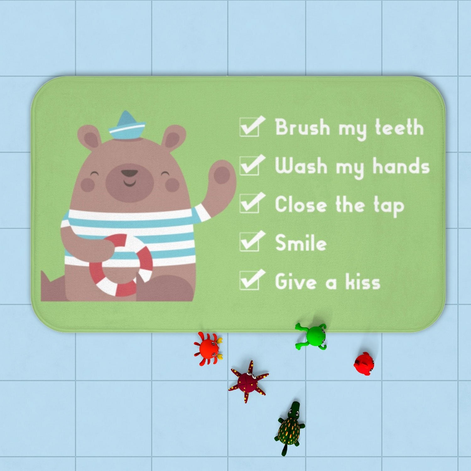 Bear Bath mat - Kids bath mat