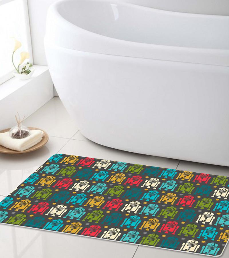R2D2 Bathroom mat Dark - Shower mat-TheGretest