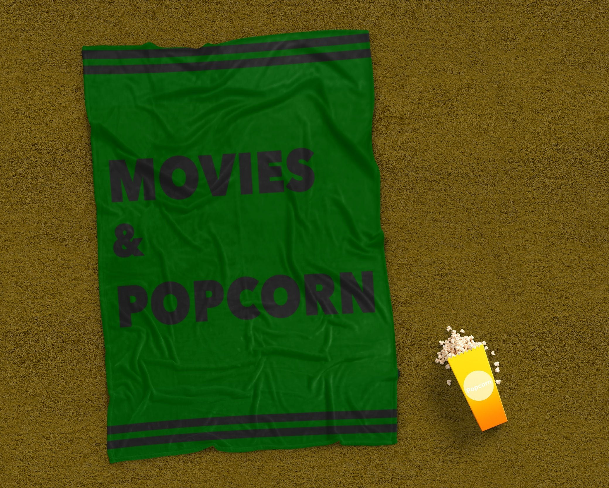 Movies Blanket - Green Blanket - Sofa Blanket-TheGretest