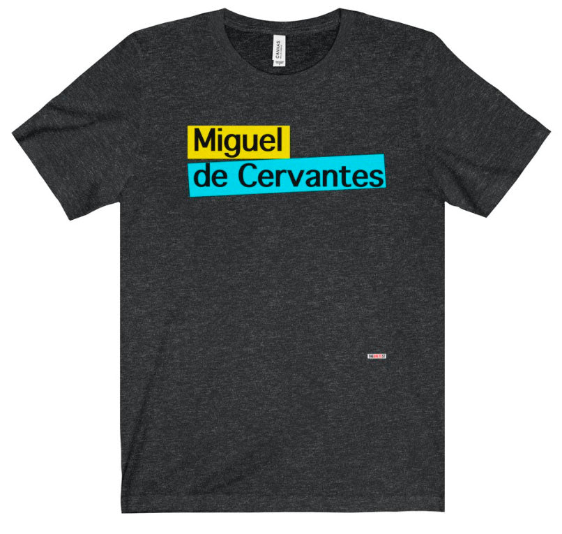 Cervantes t-shirt. Literary t-shirt from The Gretest
