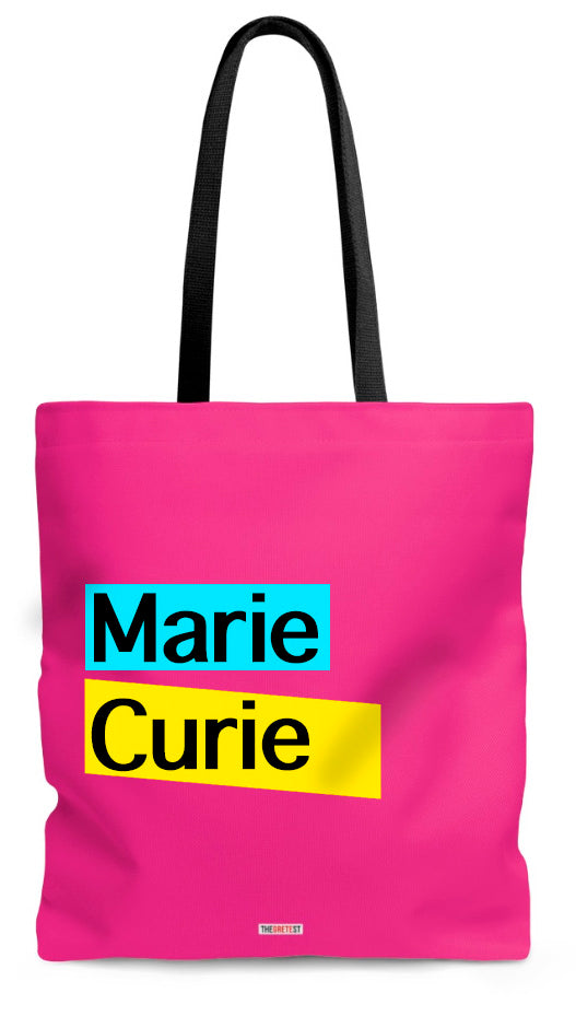 Marie Curie Tote bag - Gift for philosophers