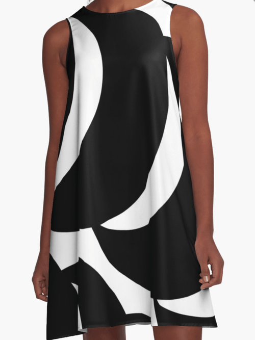 Black and white Dress- Cocktail Dress