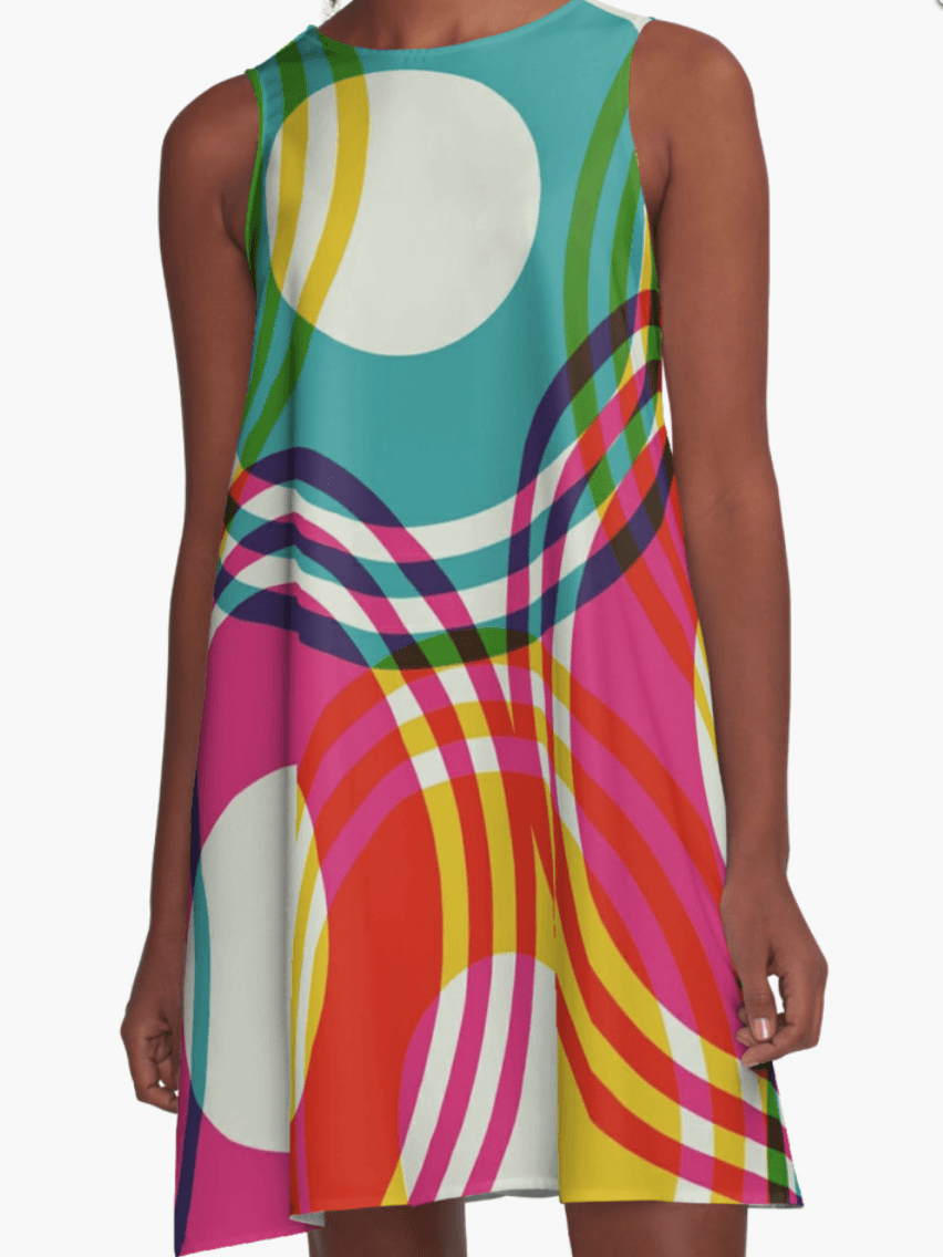 Color CIrcles Dress- Girl Dress - A Line Dress for Woman - Modern Dress-TheGretest