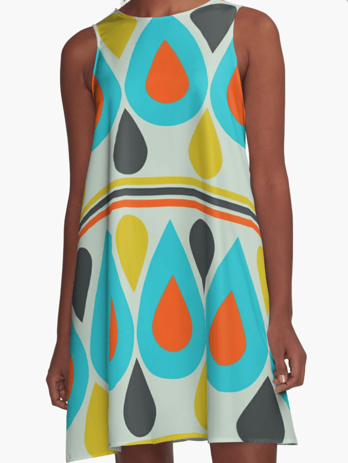 Color Drops Dress - Dress for Woman - Modern Patterns Dress-TheGretest