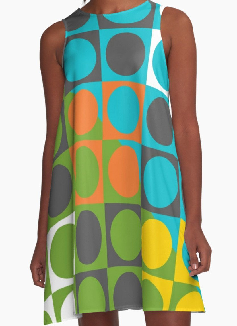 Colorful Circles Dress - Dress for Woman - Modern Patterns Dress-TheGretest