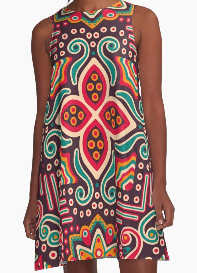 Colorful Pattern Dress - Dress for Woman - Modern Dress-TheGretest