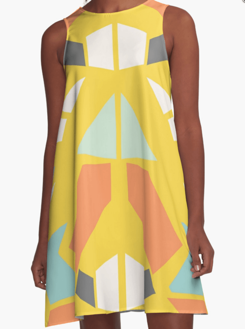 Geometric Dress- A Line Dress for Woman - Modern Dress-TheGretest