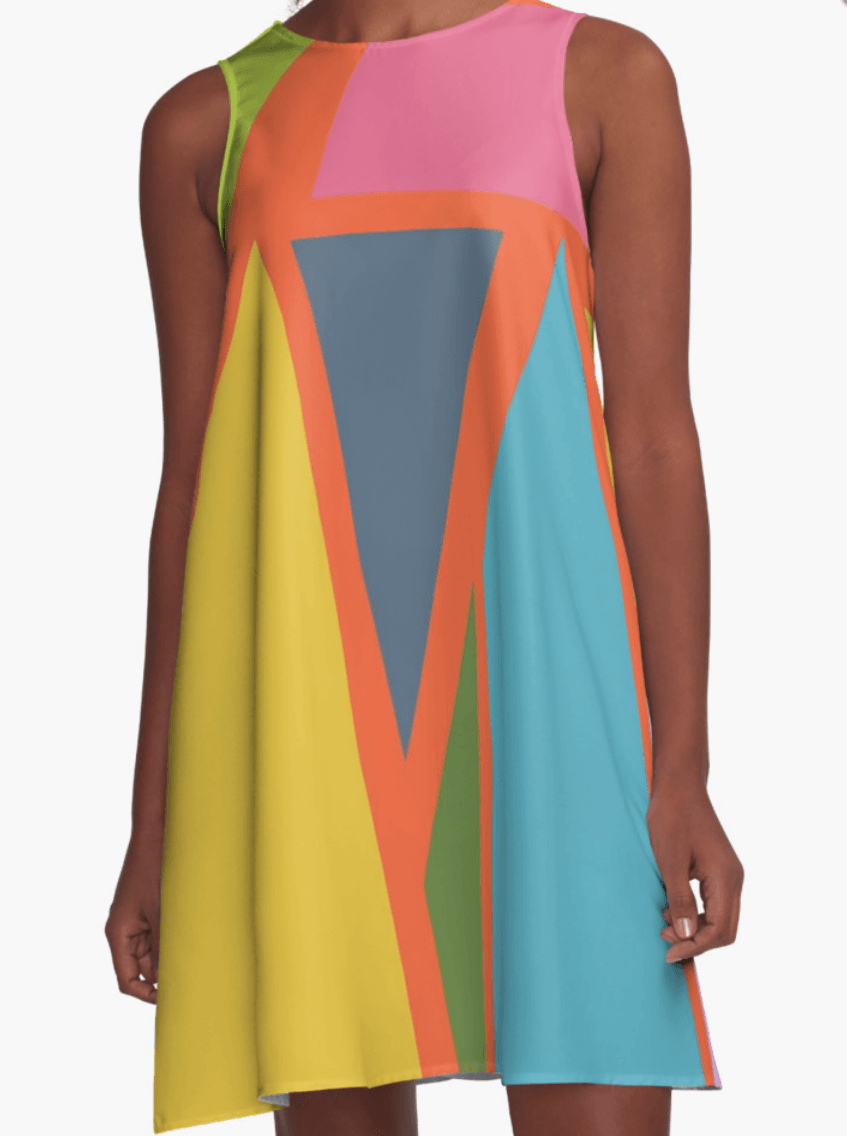 Geometric Dress - Dress for Woman - Modern Patterns Dress-TheGretest