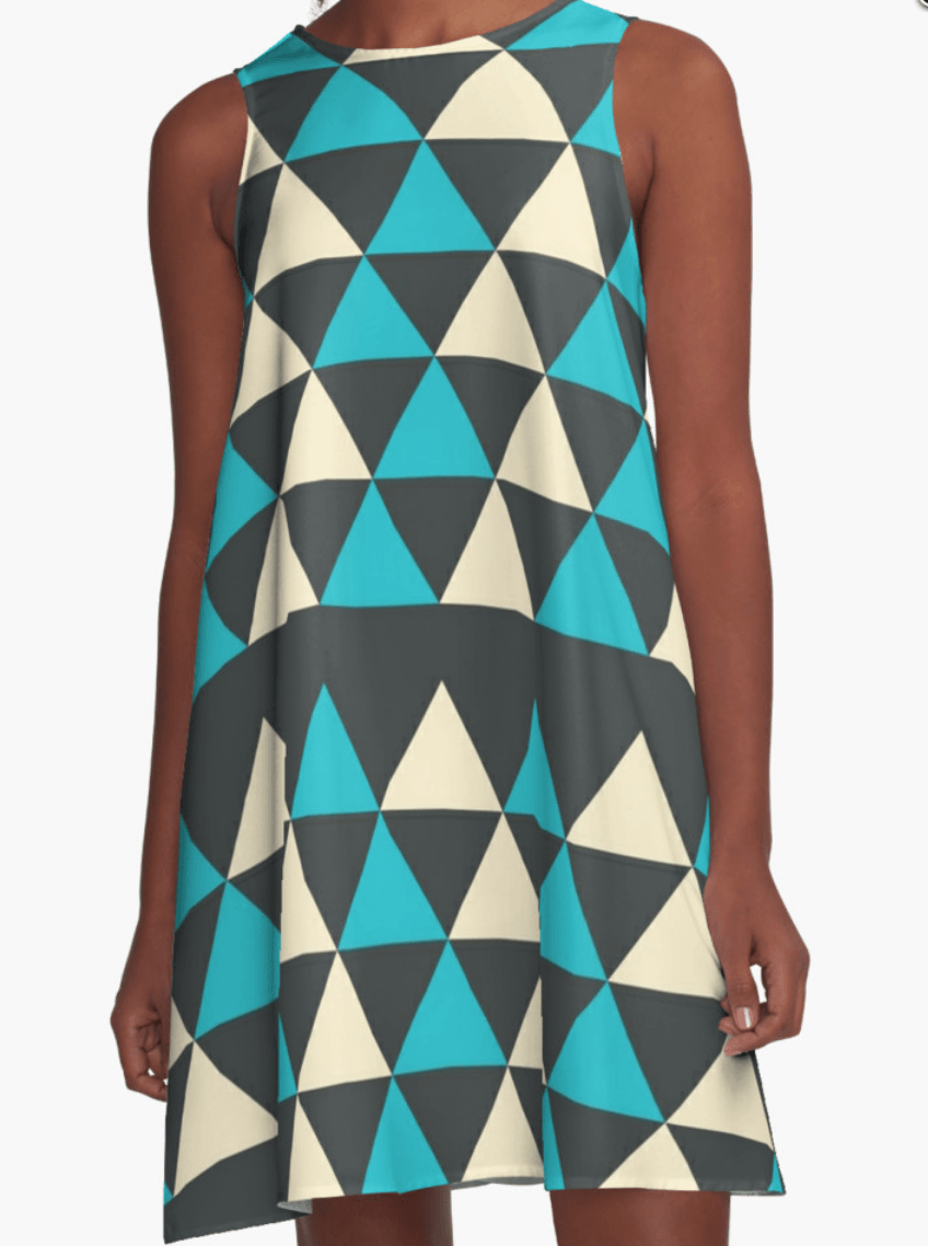Triangles Dress- A Line Dress for Woman - Modern Dress-TheGretest