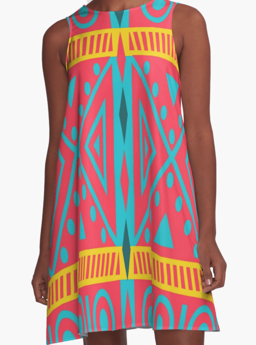 Tribal Dress- A Line Dress for Woman - Modern Dress-TheGretest