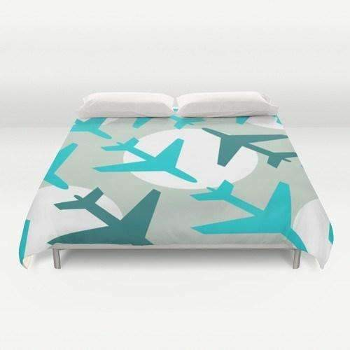 Airplanes Duvet Cover