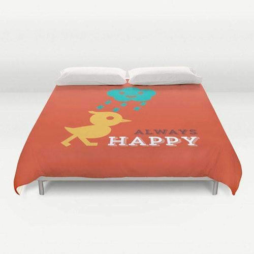 Always happy Duvet Cover