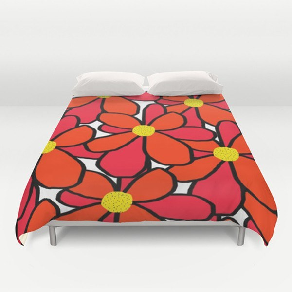 Big Flowers Duvet Cover-TheGretest