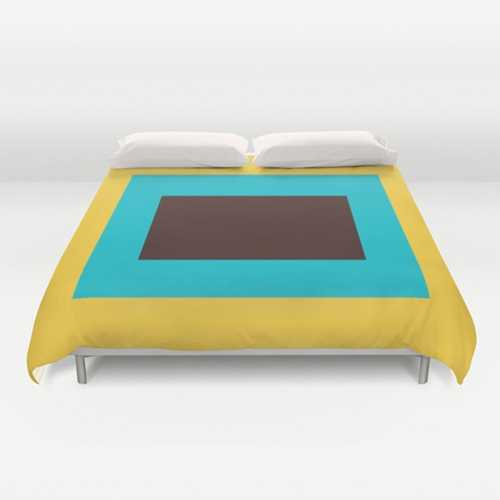 Block Color Duvet Cover-Duvet Covers-TheGretest